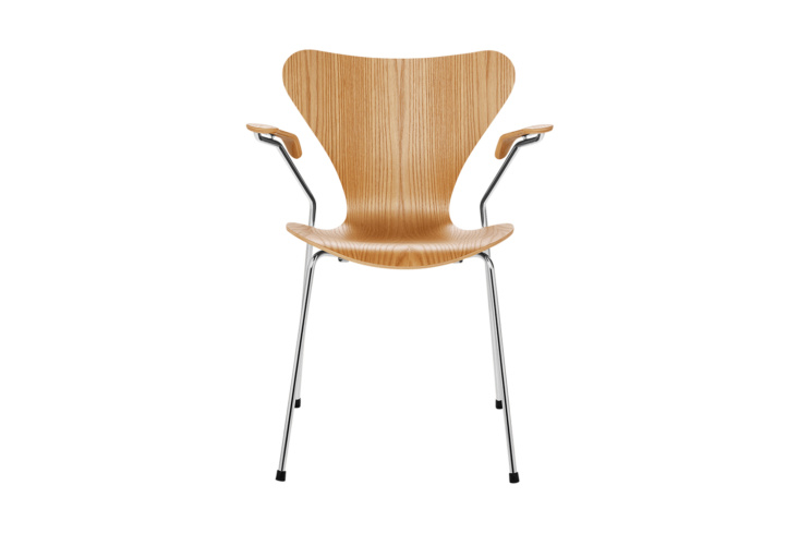 For a new version of the vintage chair, the Arne Jacobsen Series 7 Armchair Wood for Fritz Hansen is $1,327 at Design Within Reach.