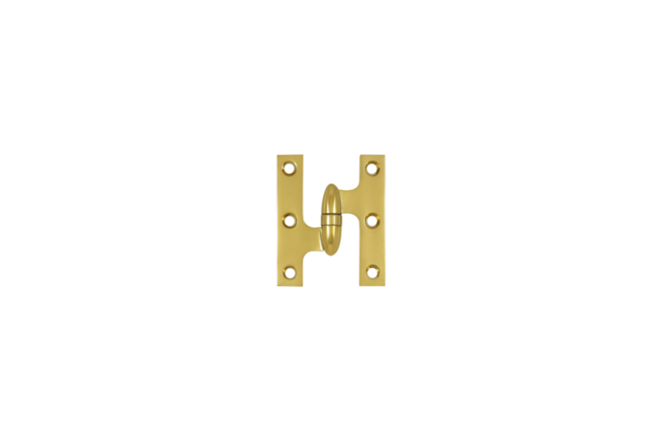 The cabinet's knuckle hinges in unlacquered brass arePremium Olive Knuckle Cabinet Hinges; $45 for a pair at House of Antique Hardware.