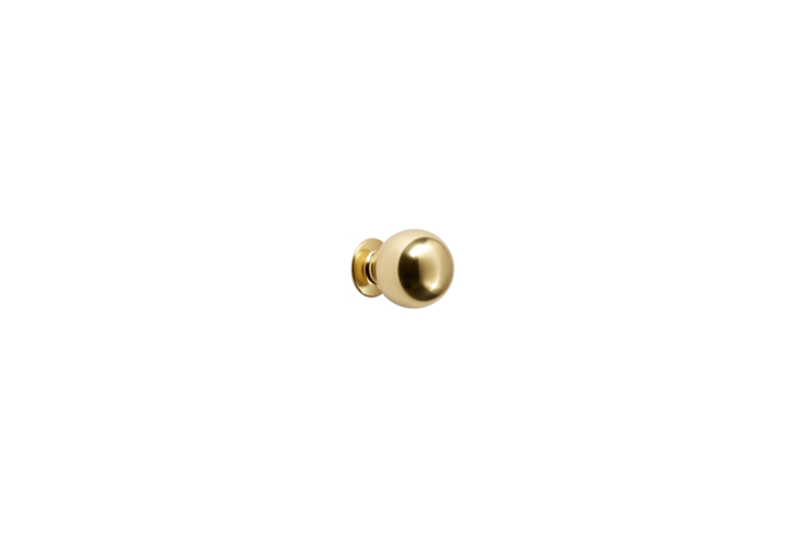 The RejuvenationBall Cabinet Knob in unlacquered brass is currently on sale for $8 at Rejuvenation.