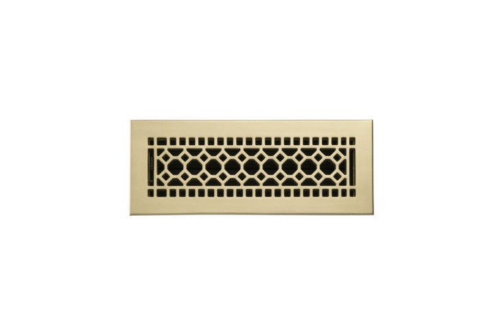 The RejuvenationClassic Brass Register measuring four by 12 inches is currently on sale for $120 at Rejuvenation.