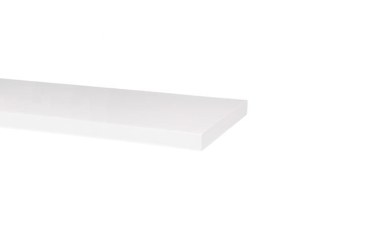 For similar white floating shelves, the White Lacquer Shelf is available in eight- and 10-inch lengths starting at $39 (currently on sale) at Rejuvenation.