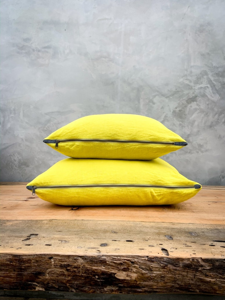 Linen Throw Pillows from Sway